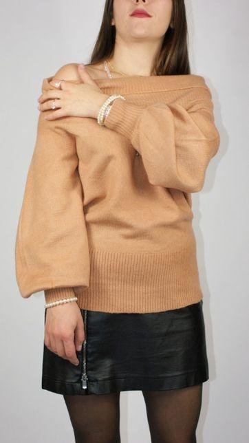 Sweter z luźnym golfem, odsłaniający ramiona River Island - M/L