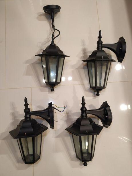 Kinkiet, lampa, żyrandol, typ latarnia