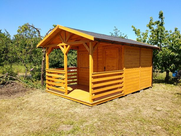 Domek ogrodowy - dach dwuspadowy