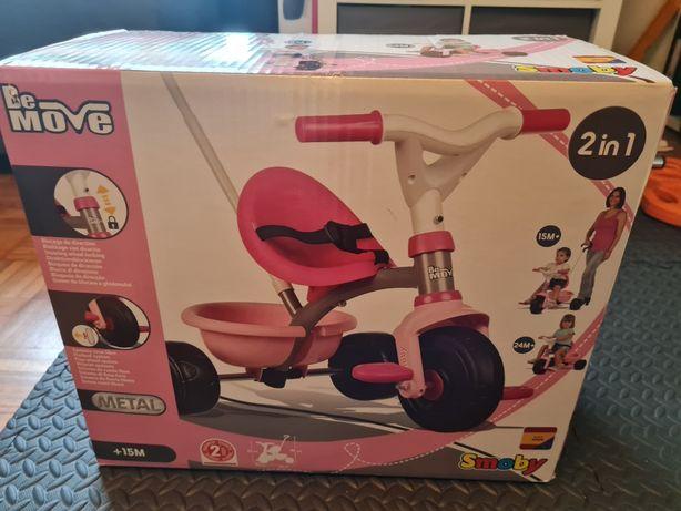 Triciclo criança Be Move cor-de-rosa