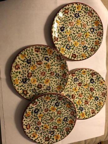 Travessa e pratos de faiança Outeiro  de Águeda