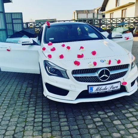 Mercedes CLA amg auto samochód do ślubu