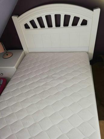 Białe łóżko kompletne z materacem Premium 90x190