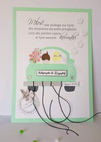 Plakat ślubny kartka na ślub pamiątka z okazji ślubu na pieniądze