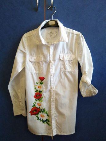 Рубашка вышитая чешским бисером
