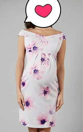 Elegancka sukienka ciążowa, L