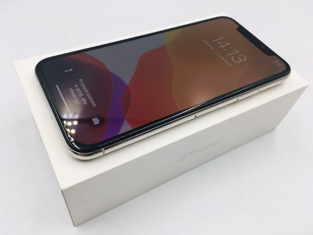 iPhone X 64GB SILVER • NOWA bateria • GW 1 MSC • AppleCentrum