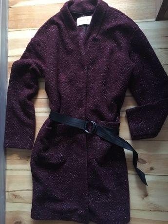 PROMOD modny płaszcz z paskiem rozm. 34 nowy