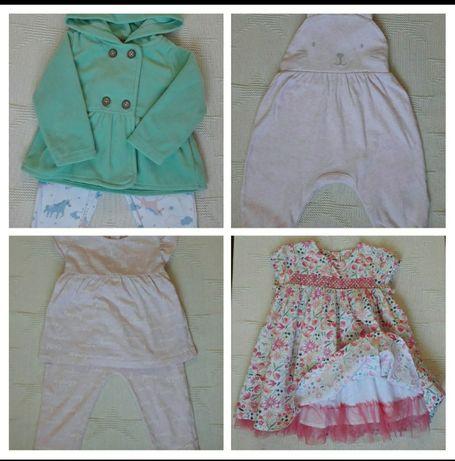 Костюм с флисовой кофтой, комбинезон,платье,костюм летний на  12 месяц