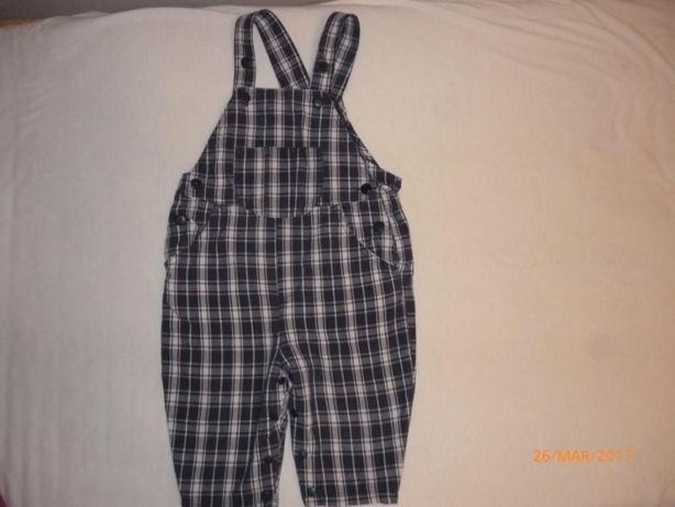 spodnie ogrodniczki dla chlopca 6-12 m-cy