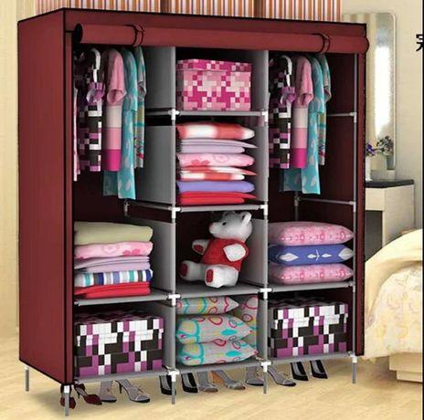 Шкаф тканевый складной на 3 секции  (130х45х175 см)