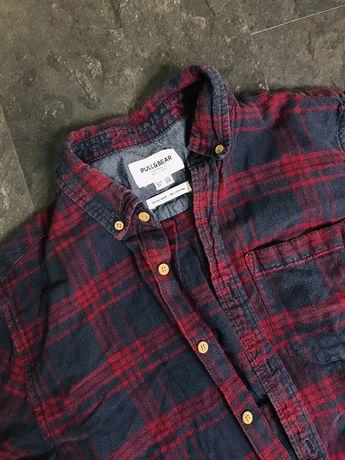 Мужская рубашка в клетку Pull & Bear, Colins новая,худи кофта ..