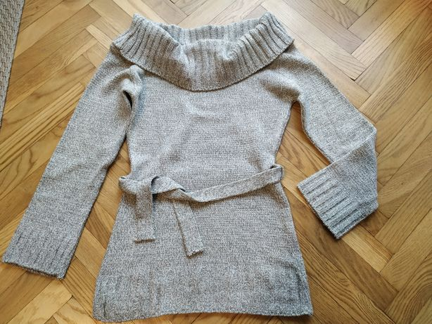 Sweter golf S 36 tunika sweterek