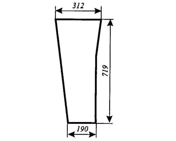 Szyba przednia dolna Ursus 3514, 4512, 4514, 5312, 5314, 5714, ACX180