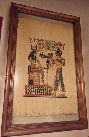 Cuadro Egipto Papiro Original