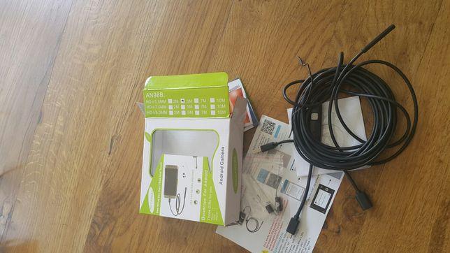 Endoskop,  kamera USB kabel 5 metrów do laptopa,  smartfona, wodoodpor