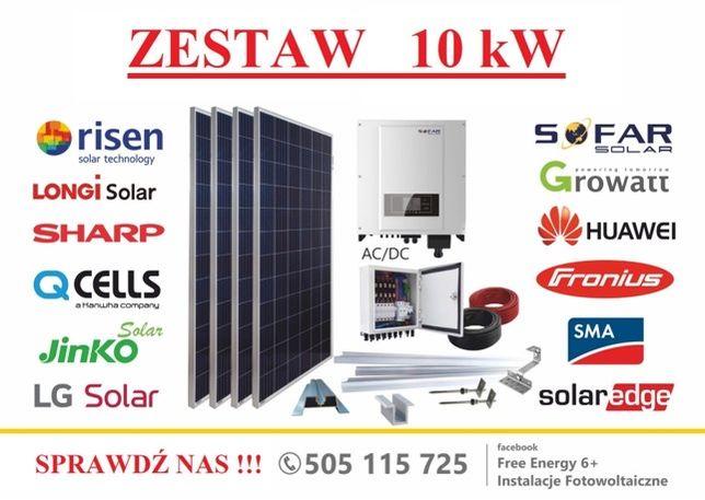 Fotowoltaika zestaw 10 kW Huawei, Sharp