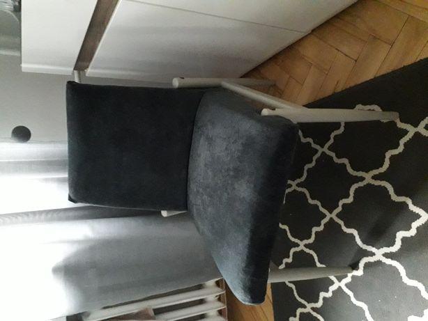Fotel PRL granatowy/niebieski