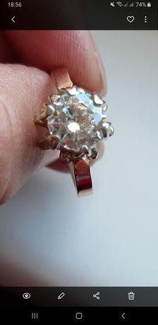 Продам серебр.кольцо с золотыми напайками