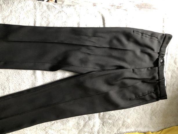 Spodnie garniturowe mlodziezowe czarne