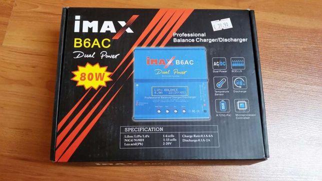 Carregador baterias profissional B6AC Li-Po Ni-Mh Ni-CD SLA