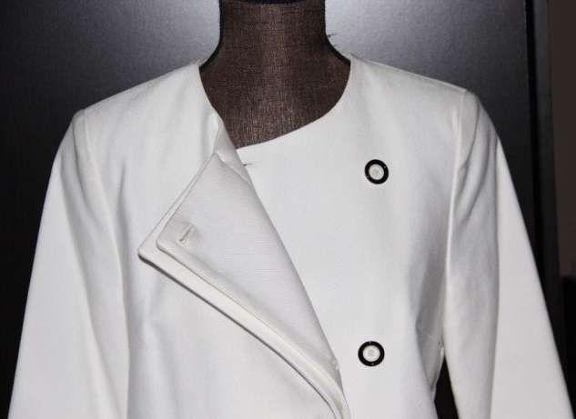 SIMPLE BIAŁY płaszcz płaszczyk sukienka 36 xs 34 xs ślub chrzest