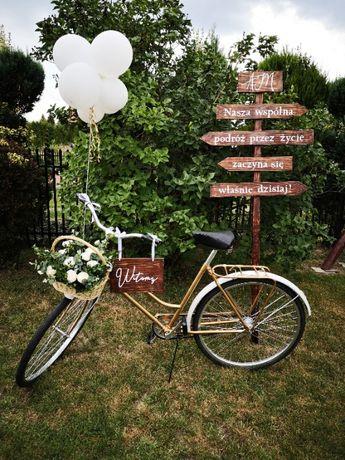 Złoty rower na bramę, ślub, wesele, dekoracje!