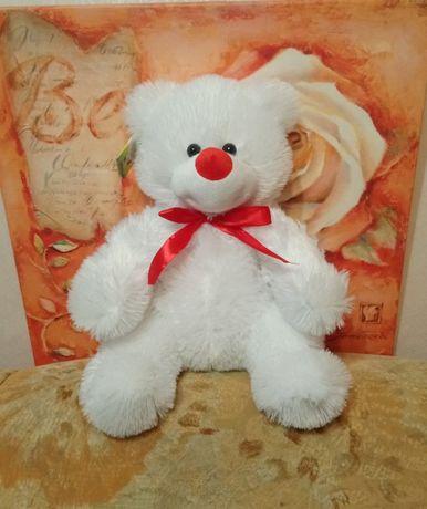 Мягкий белый мишка, игрушка медведь, плюшевый мишка
