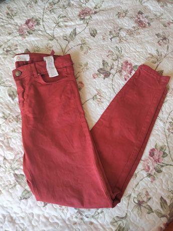 Calças vermelhas Zara