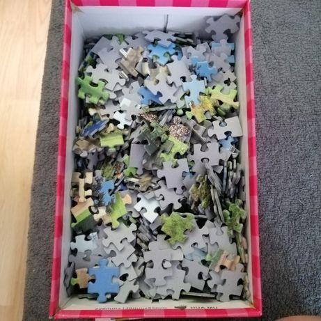Oddam za darmo puzzle widoczne na zdjęciu