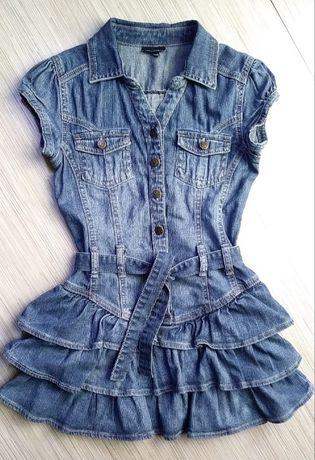 Kappahl rozm. 158 (13 lat) niespotykana jeansowa sukienka z falbanami.