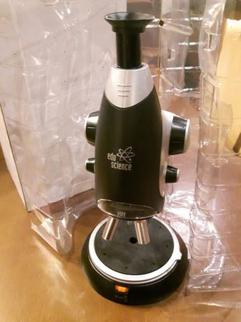 Microscópio Edu Science e diferentes acessórios (ver fotos)