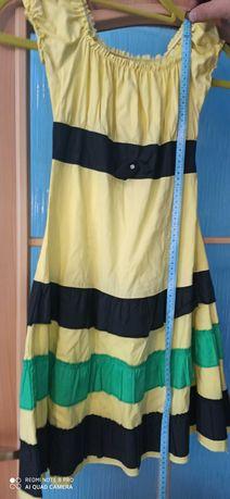 Bluzka sukienka krótki rękaw dziewczynka 104 do 128