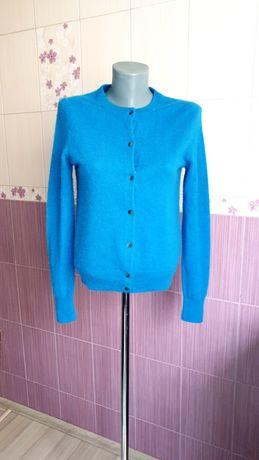 Синий кашемировый джемпер кофта UNIQLO кардиган