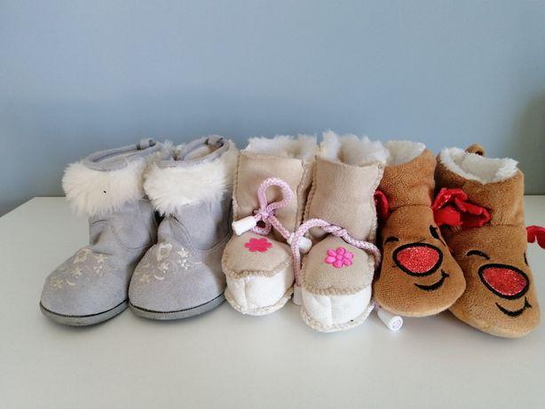 Buciki papućki niechodki rozmiar 20-21