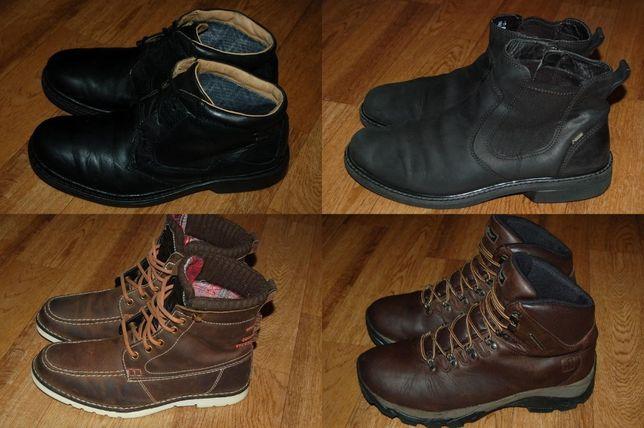 Кожаные ботинки 43-43,5р Timberland Ecco GoreTex Dockers TU