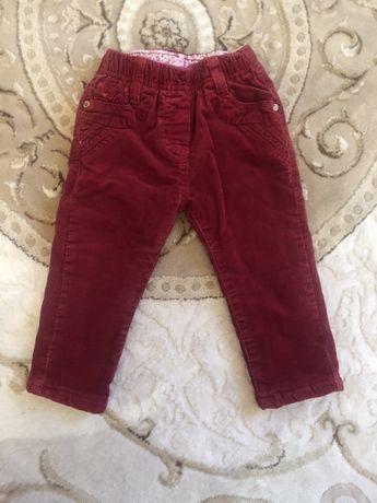 Вельветові утеплені штани на хлопчика до одного року