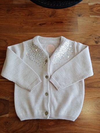 Sweter, sweterek Smyk 80, nowy, dziewczynka