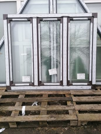 Okno PCV 172 x 142 dąb bagienny 170 x 140
