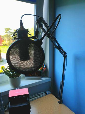 Mikrofon Novox NC-1 + ramię, koszyk i pop filtr