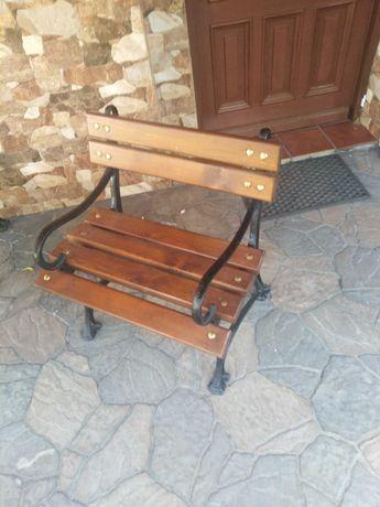 Stoły i ławki na taras, drewno i żeliwo