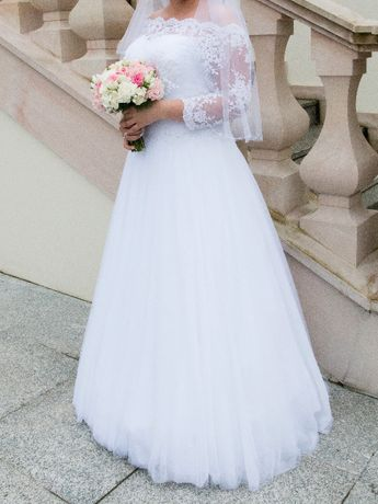 Suknia ślubna Margarett Haremma (biała) Studio Anett Olsztyn