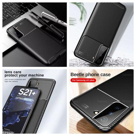 Capa Fibra carbono Samsung S21 Plus / S30 Plus / S20 Plus / S21 Ultra
