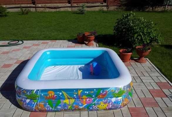 """Детский басейн 280л со съемной крышей надувной ntex"""" Домик """""""