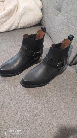 Buty Skórzane kowbojki