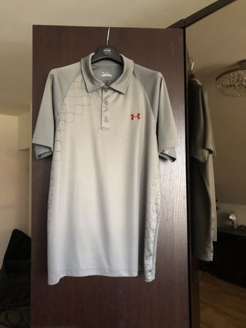 Szara koszulka sportowa, treningowa, T-shirt, Under Armour, rozmiar M