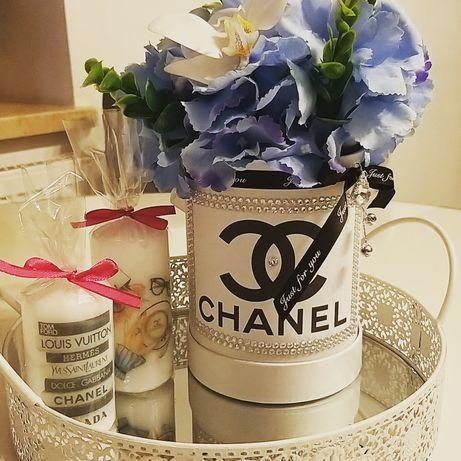 Flower Box hortensje storczyk luxury diamenty CC