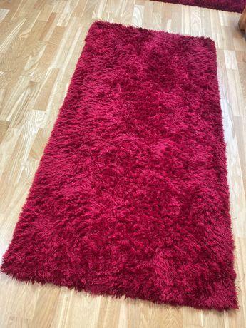 Dywan Dywaniki czerwone shaggy 70x140
