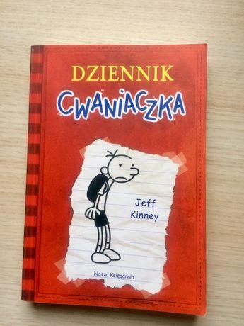 """Książka """"Dziennik Cwaniaczka"""" Jeff Kinney"""