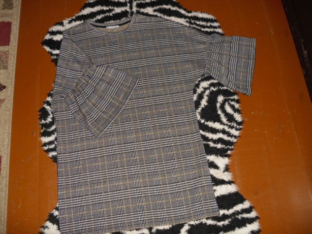 Sukienka-tunika w kratę R.M, ZARA.